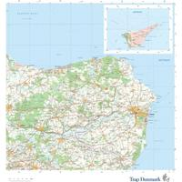 Kort Over Norddjurs Kommune Topografisk Kort 1 75 000 Se Priser