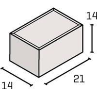 IBF SF-Klostersten Kantblok 14x21x14 cm Rødmix
