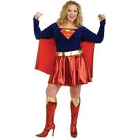 Rubies Plus Size Deluxe Adult Supergirl Costume