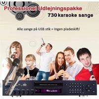 Professionel Udlejningspakke 730 sange