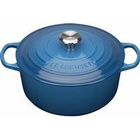 Le Creuset Marseille Blue Signature Cast Iron Round Gryde med låg 22cm