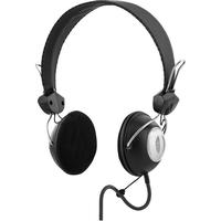 DELTACO on-ear headset, 40mm drivers, 2m braided cable, black