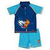 Playshoes Boy's UV Sun Protection 2 Piece Set Surfing Mouse Swim Shorts, Blue (Navy), 5-6 Years (Manufacturer Size:110/116)