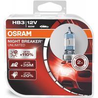 Osram Night Breaker Unlimited HB3 pærer +110% mere lys (2 stk) pakke