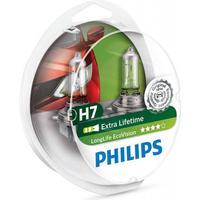 Philips H7 Longlife EcoVision pærer med op til 4x længere levetid (2 stk)