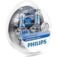 Philips H4 White Vision Ultra Incl W5W (2+2 stk)