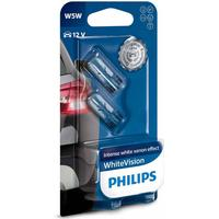 Philips W5W White Vision pærer med Xenon effekt & +60% mere lys (2 stk)