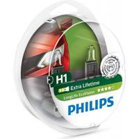 Philips H1 Longlife EcoVision pærer med op til 4x længere levetid (2 stk)