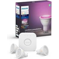 Philips Hue White and Color Ambience LED Lamps 5.7W GU10 3-pack Starter Kit
