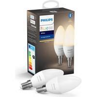 Philips Hue White LED pære - E14 Kerte 2-PACK - BT