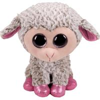 TY Beanie Boos Dixie Grey Lamb Plush Toy Plysdukke 24cm