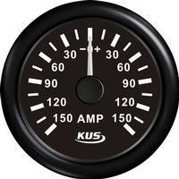 KUS Amperemeter Sort m/150A Shunt 12/24V