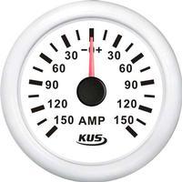 KUS Amperemeter Hvid m/150A Shunt 12/24V