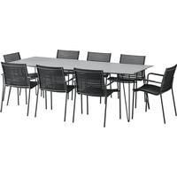 MOOD Nardo Havemøbelsæt, 1 borde inkl. 8 stole