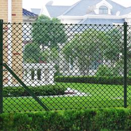 vidaXL Chain Link Fence with Posts 25mx150cm