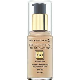 Max Factor Facefinity All Day Flawless 3 in 1 Foundation SPF20 #47 Nude