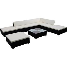 vidaXL 41259 Modulsofa Loungesæt, 1 borde inkl. 3 stole