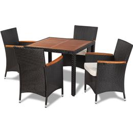 vidaXL 41307 Havemøbelsæt, 1 borde inkl. 4 stole
