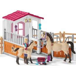 Schleich Horse Stall with Arab Horses & Groom 42369