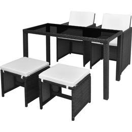 vidaXL 42521 Havemøbelsæt, 1 borde inkl. 2 stole