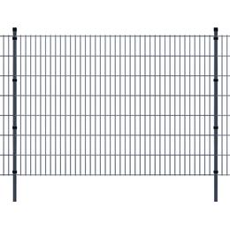 vidaXL 2D Garden Fence Panel & Posts 2mx143cm