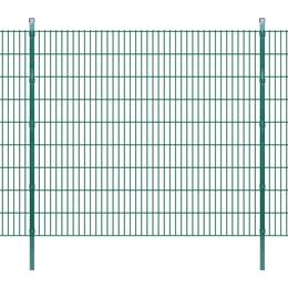 vidaXL 2D Garden Fence Panel & Posts 2mx183cm