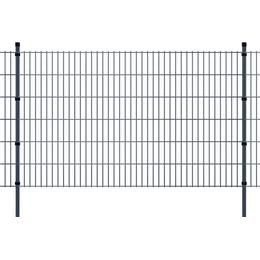 vidaXL 2D Garden Fence Panels & Posts 24mx123cm