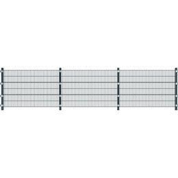 vidaXL Fence Panel with Posts 6mx120cm