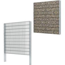 vidaXL 2D Gabion Fence Set 6mx203cm