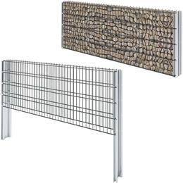 vidaXL 2D Gabion Fence Set 20mx83cm