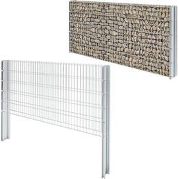 vidaXL 2D Gabion Fence Set 16mx103cm