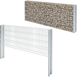 vidaXL 2D Gabion Fence Set 6mx83cm