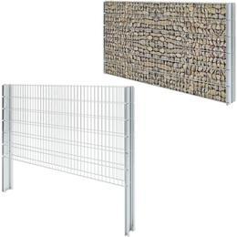 vidaXL 2D Gabion Fence Set 4mx123cm