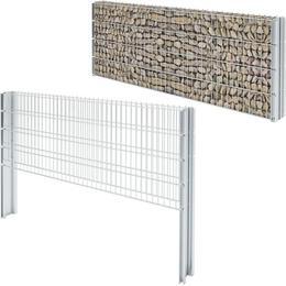 vidaXL 2D Gabion Fence Set 8mx83cm