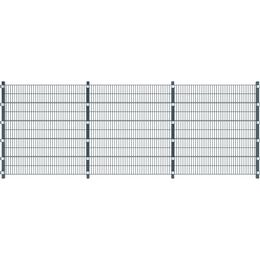 vidaXL Hegnpanel med stolper 6mx200cm