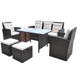 vidaXL 42644 Havemøbelsæt, 1 borde inkl. 2 stole