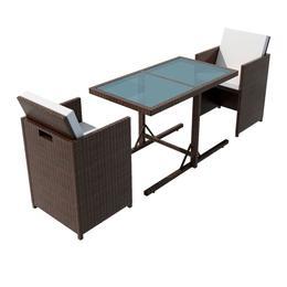 vidaXL 42540 Havemøbelsæt, 1 borde inkl. 2 stole
