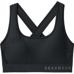 Under Armour Mid Crossback Sports Bra - Black