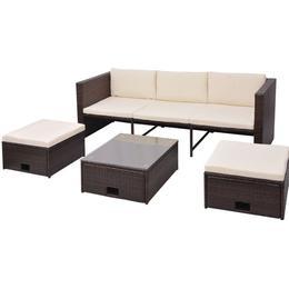 vidaXL 43103 Loungesæt, 1 borde inkl. 1 sofaer