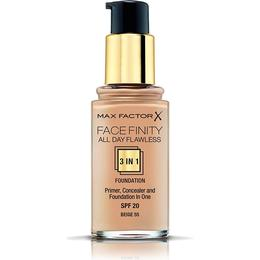 Max Factor Facefinity All Day Flawless 3 in 1 Foundation SPF20 #55 Beige