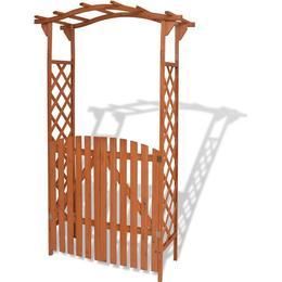 vidaXL Garden Arch with Gate 120x205cm