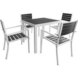 vidaXL 42811 Havemøbelsæt, 1 borde inkl. 4 stole