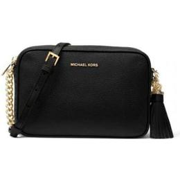 Michael Kors Ginny Leather Crossbody Bag - Black