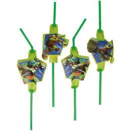 Amscan Straw Drinking Teenage Mutant Ninja Turtles 8-pack