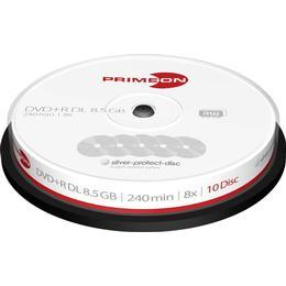 Primeon DVD+R DL 8.5GB 8x Spindle 10-Pack (2761250)