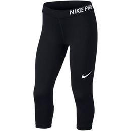 Nike Pro Capri Tights Girls - Black/Black/Black/White