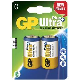 GP Batteries Ultra Plus Alkaline C Compatible 2-pack