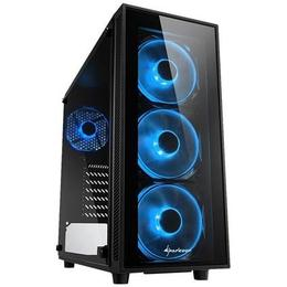 Sharkoon TG4 Tempered Glass LED Blue
