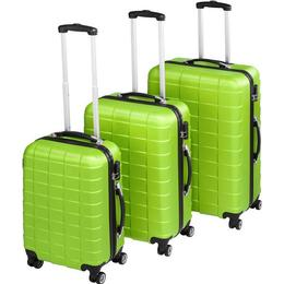 tectake Hard Shell Suitcase - 3 Set