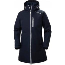 helly hansen long belfast winter jacket navy se priser hos os. Black Bedroom Furniture Sets. Home Design Ideas